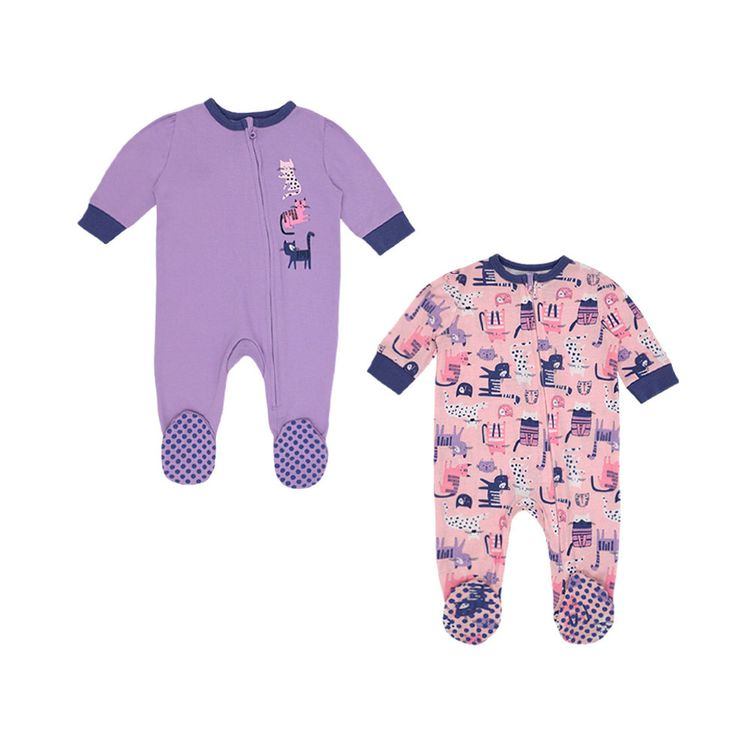 Urb-Pijama-Enterizo-Gato-Talla-6-a-9-Meses-Pack-2-unid-1-199765422