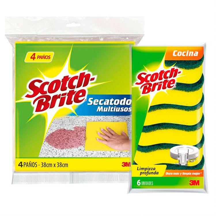 Pack-Scotch-Brite-Pa-o-Secatodo-Multiusos-Bolsa-4-unid-Esponja-2-en-1-Multiusos-Cocina-Bolsa-6-unid-1-24610998