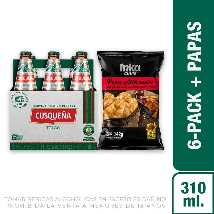 Cerveza-Cusque-a-Trigo-Pack-6-Botellas-de-310-ml-c-u-Papas-Artesanales-Sabor-Cebolla-Caramelizada-y-BBQ-Inka-Chips-Bolsa-142-g-1-208191941