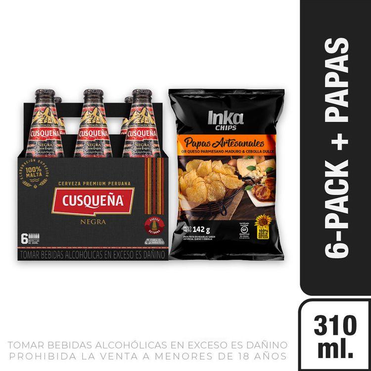 Cerveza-Cusque-a-Negra-Pack-6-Botellas-de-310-ml-c-u-Papas-Chips-Saborizadas-Queso-Cebolla-Bolsa-142-g-1-208191950