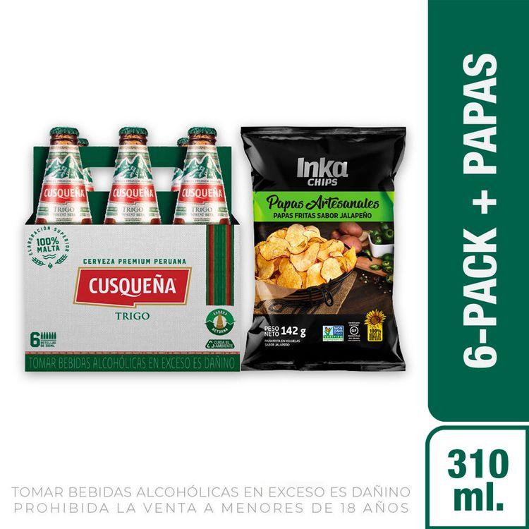 Cerveza-Cusque-a-Trigo-Pack-6-Botellas-de-310-ml-c-u-Papas-Artesanales-Sabor-Jalape-o-Inka-Chips-Bolsa-142-g-1-208191952