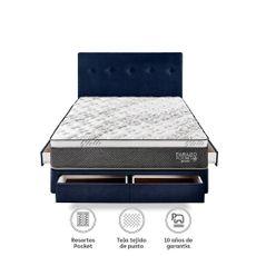 Para-so-Juego-de-Dormitorio-Pocket-Star-2-Plazas-Box-Tarima-con-Cajones-Azul-2-Almohadas-1-218501506