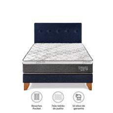 Para-so-Juego-de-Dormitorio-Pocket-Star-2-Plazas-Cama-Europea-Azul-Cabecera-2-Almohadas-1-218501518