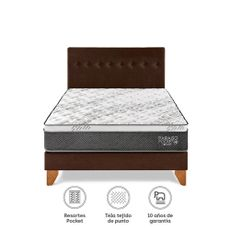 Para-so-Juego-de-Dormitorio-Pocket-Star-King-Cama-Europea-Chocolate-Cabecera-2-Almohadas-1-218501524