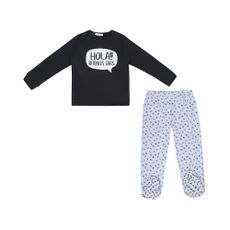 Urb-Pijama-Manga-Larga-para-Beb-Fleece-Hola-Buenos-D-as-Talla-6-a-9-Meses-1-214335852