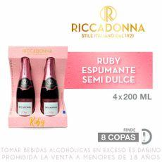 Espumante-Semi-Dulce-Ruby-Riccadonna-Botella-200-ml-Pack-4-unid-1-102733363